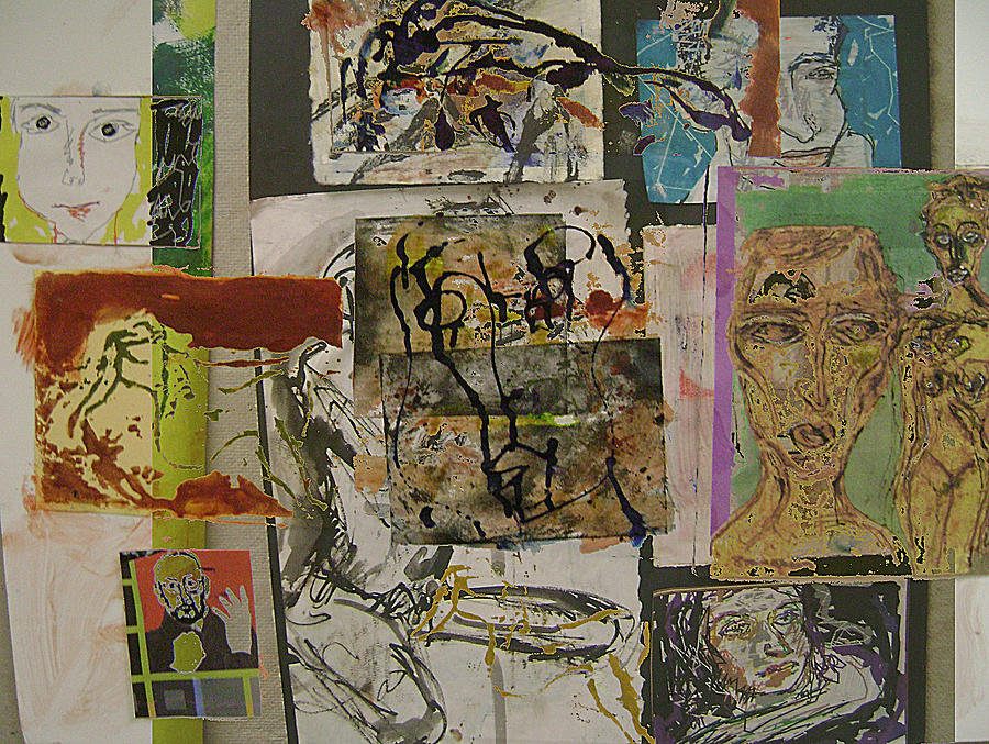 Faces Mixed Media - Collage 27 by Noredin Morgan