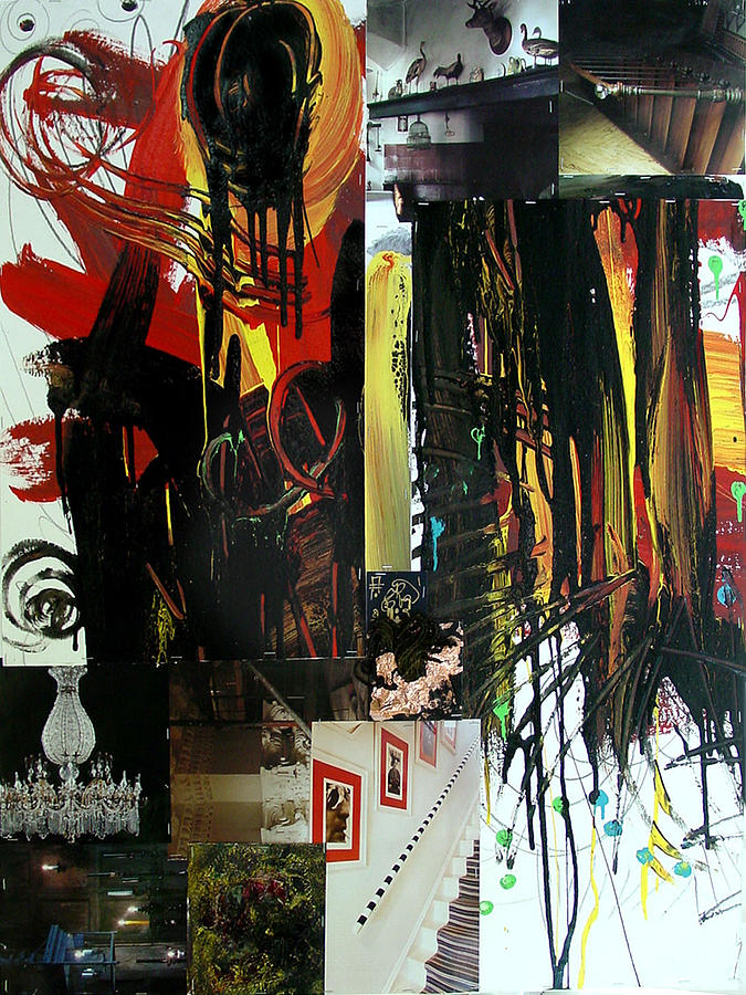 Collage Mixed Media - Collage 6 30x40 In by Annette Labedzki