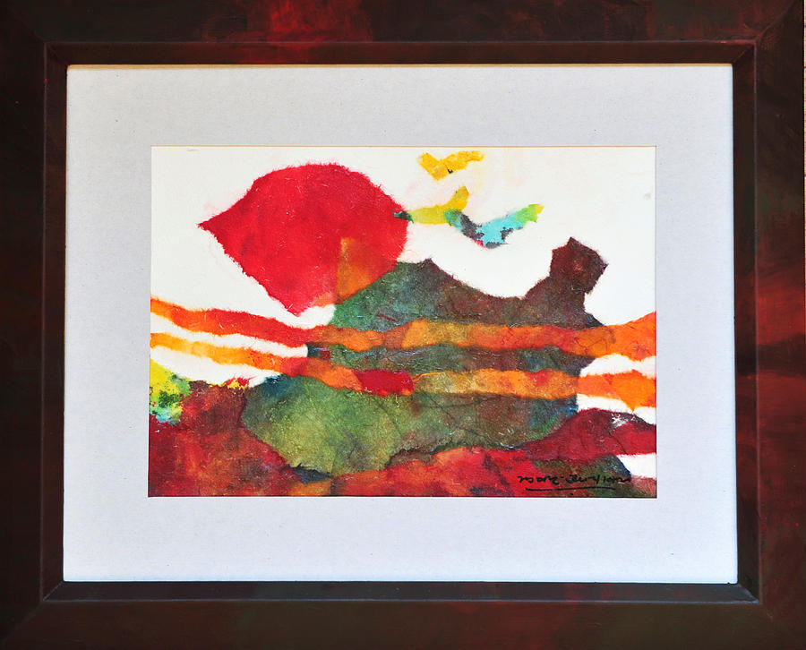 Abstract Landscape Mixed Media - Collage D by Manjit Singh Chatrik