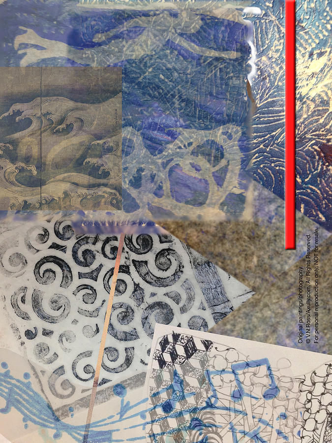 Collage in Blues by Vicki Ross