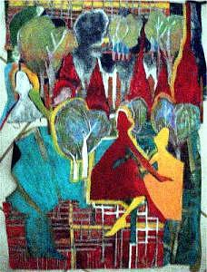Trees Mixed Media - Collage by Janice Webb