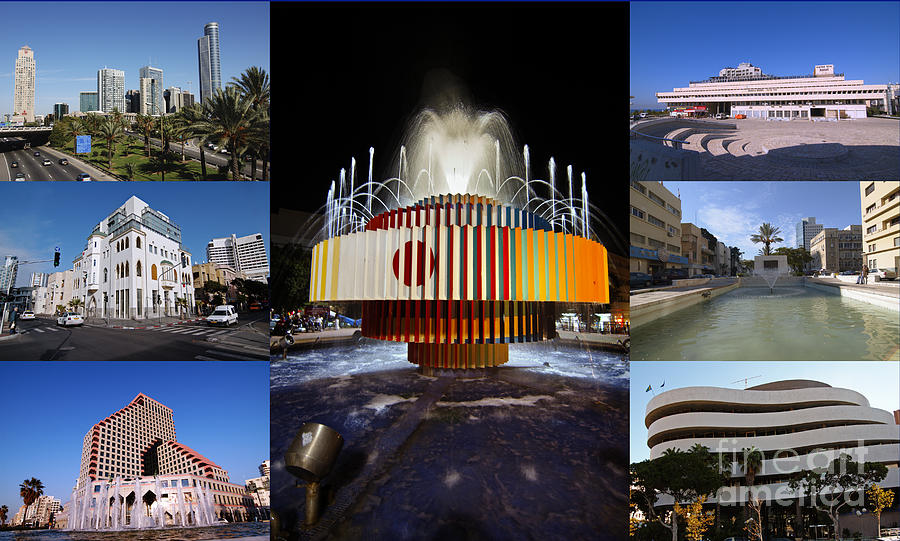 Collage Photograph - Collage Of Tel Aviv Israel by Ilan Rosen
