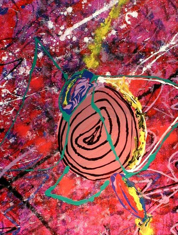 Abstract Painting - Collapse Of Fullness by Sarah Aponte