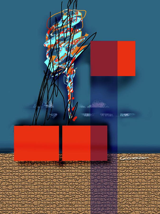 Digital Painting Painting - Collapsing Ego by Dean Gleisberg