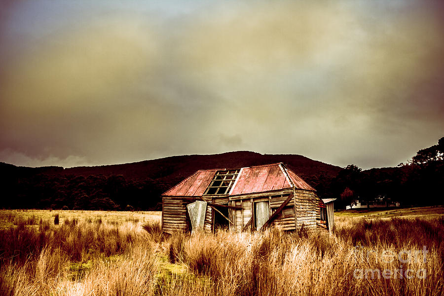 Collapsing old wooden farm building by Jorgo Photography - Wall Art Gallery