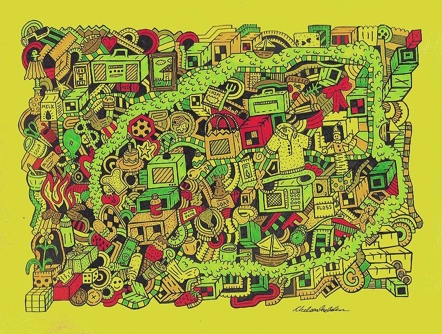 River Drawing - Collar Boy by Chelsea Geldean