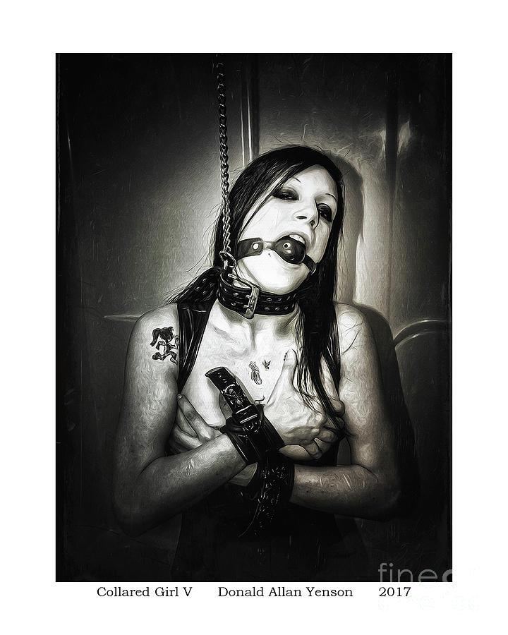 Collar Photograph - Collared Girl V by Donald Yenson