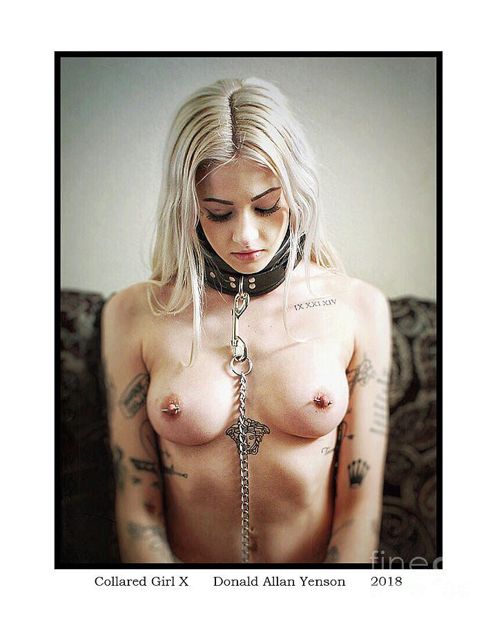 Leather Photograph - Collared Girl X by Donald Yenson