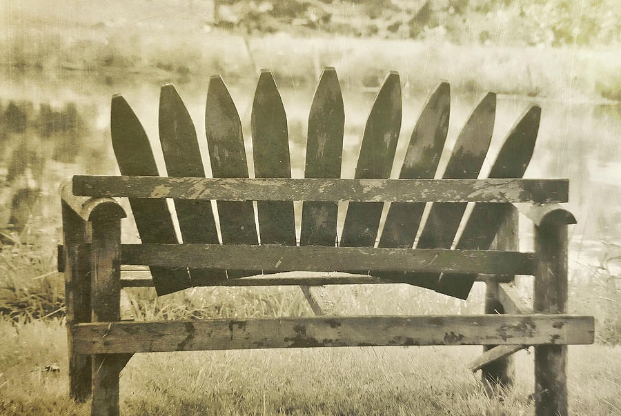 Bench Photograph - Collect Your Thoughts by JAMART Photography
