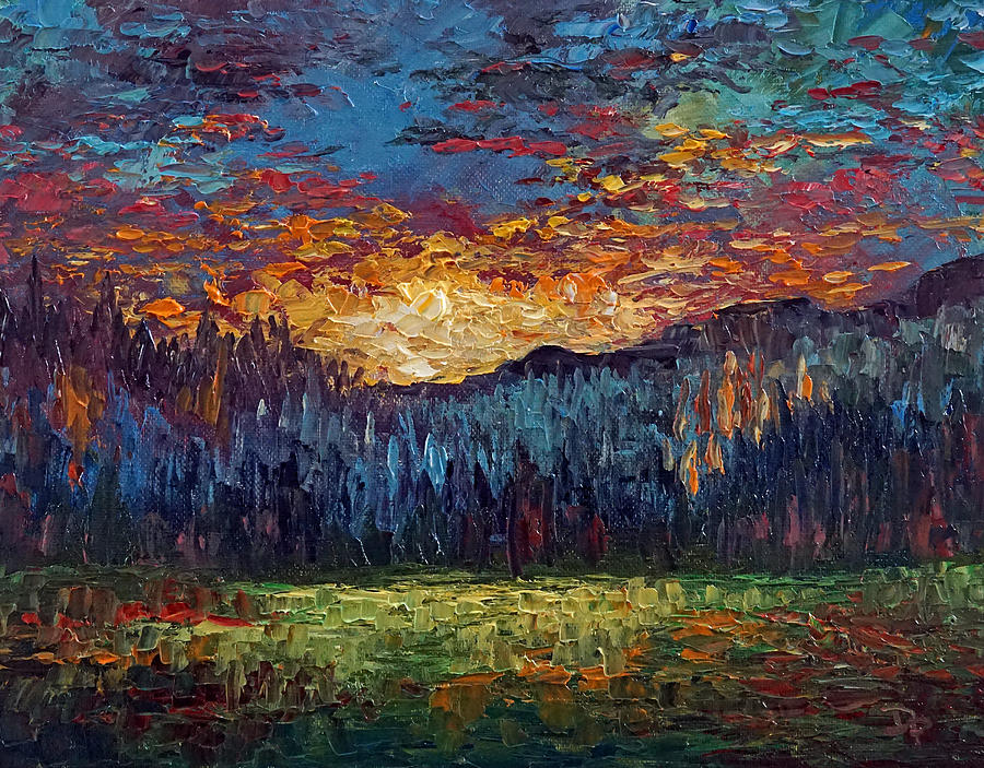 Mountains Painting - Collected Serenity by David G Paul