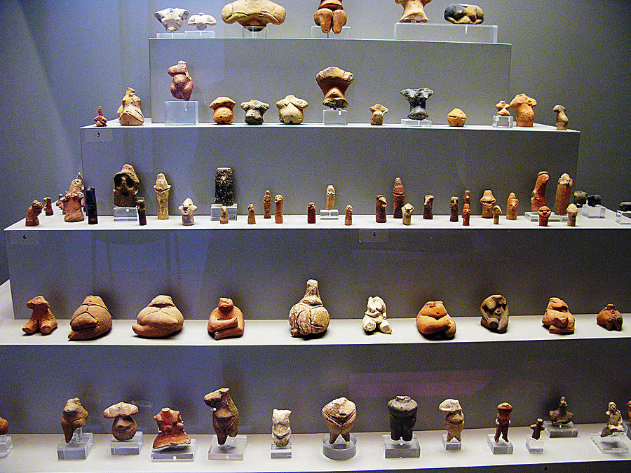 Neolithic Figurine Photograph - Collection Of Figurines by Andonis Katanos