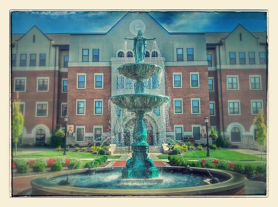 Fountain Photograph - College Fountain by Dustin Soph