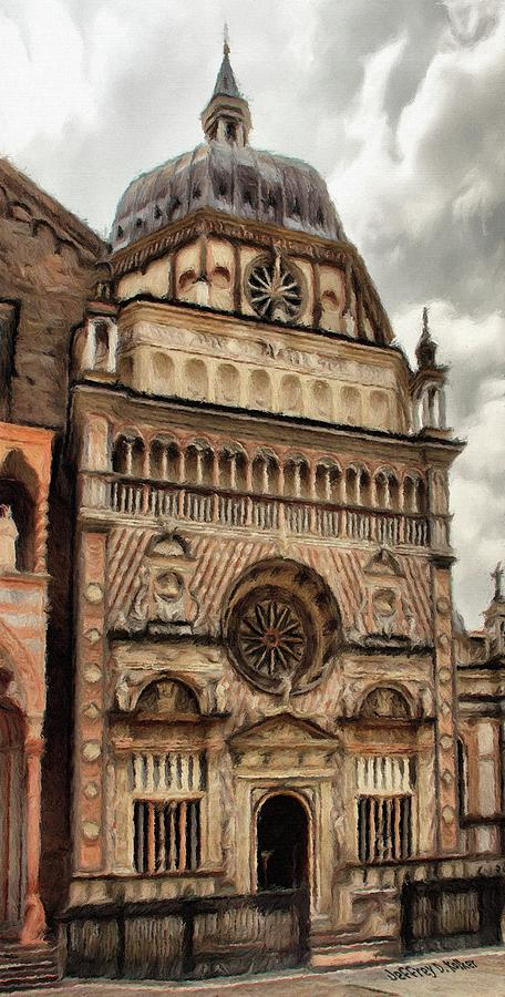 Chapel Painting - Colleoni Chapel by Jeff Kolker