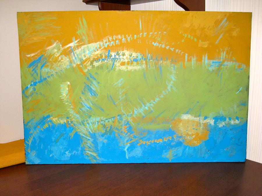 Abstract Painting - Collide by Krysten Jorgensen