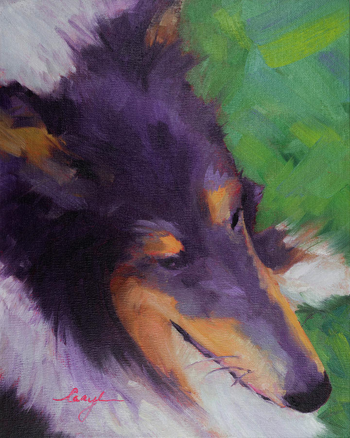 Painting Painting - Collie Girl Siena by Caryl Pomales