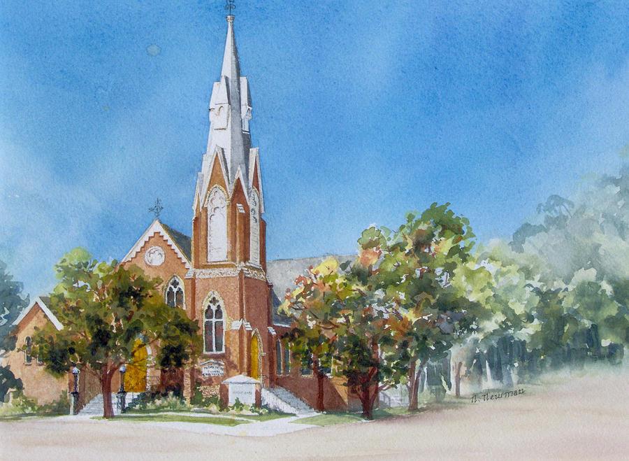 Church Painting - Collingwood-church by Nancy Newman