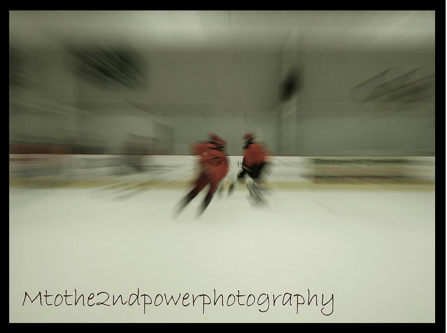 Hockey Photograph - Collision Course by Megen McAuliffe