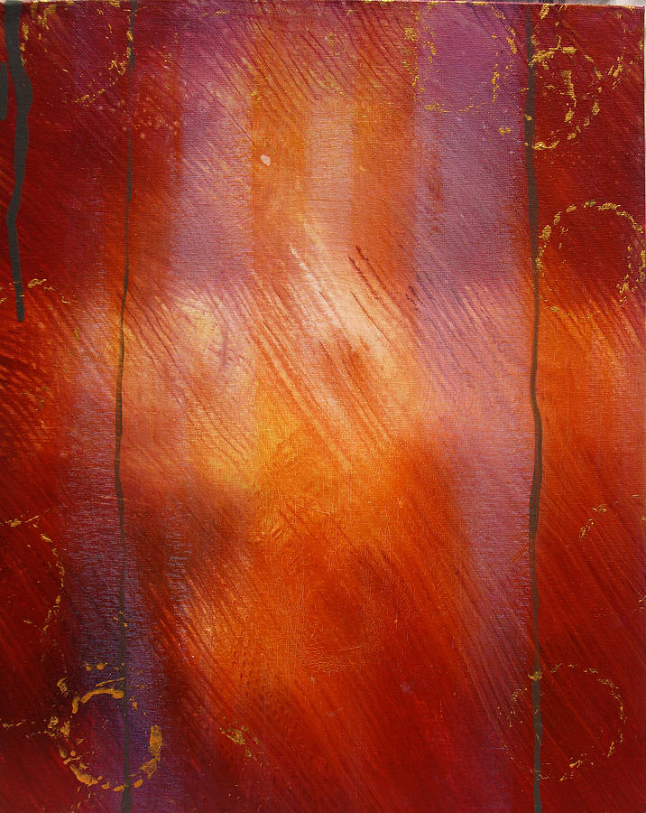 Red Painting - Colloidal Gold Series by Courtney Barriger