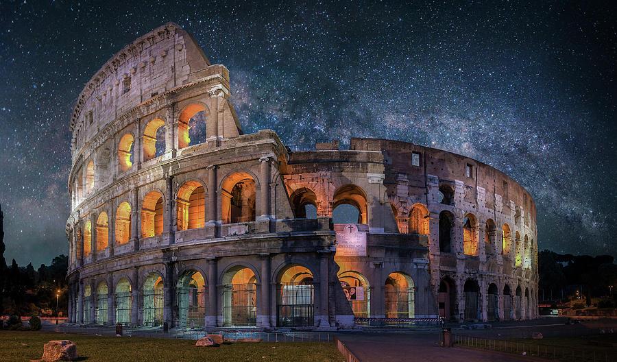 Colloseum Under The Stars Digital Art by Brent Shavnore