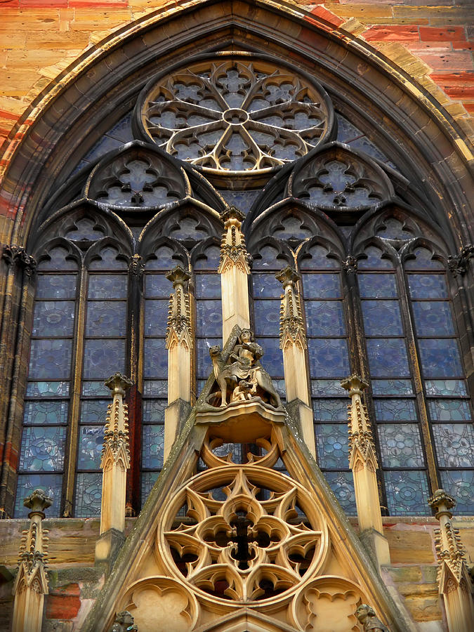 Colmar Gothic Cathedral Rose Window Photograph By Leone M Jennarelli