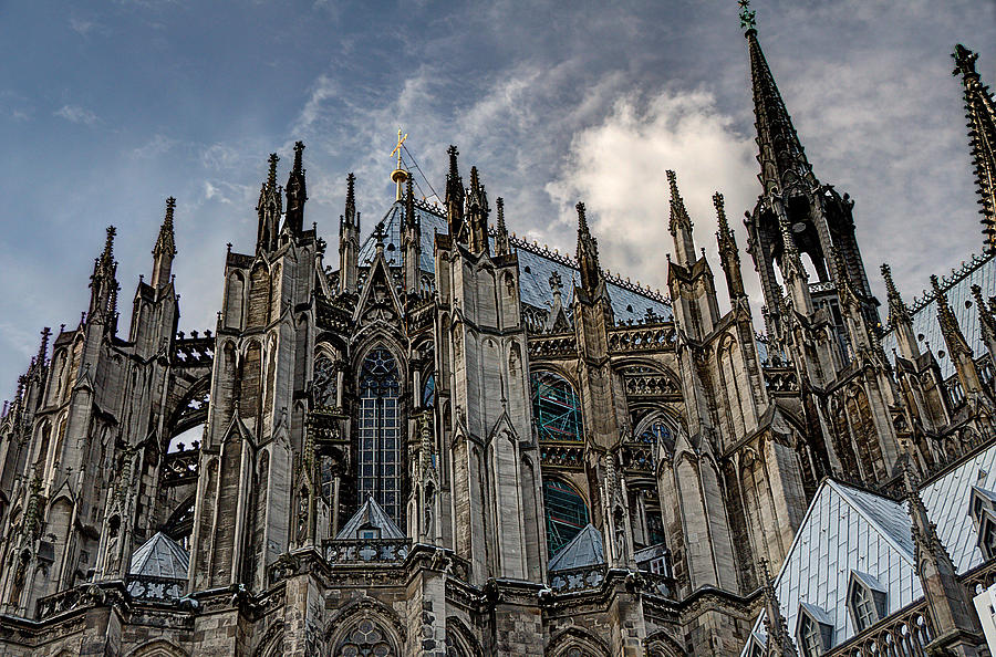 Cologne Cathedral Flying Buttresses Photograph By Terry Pridemore