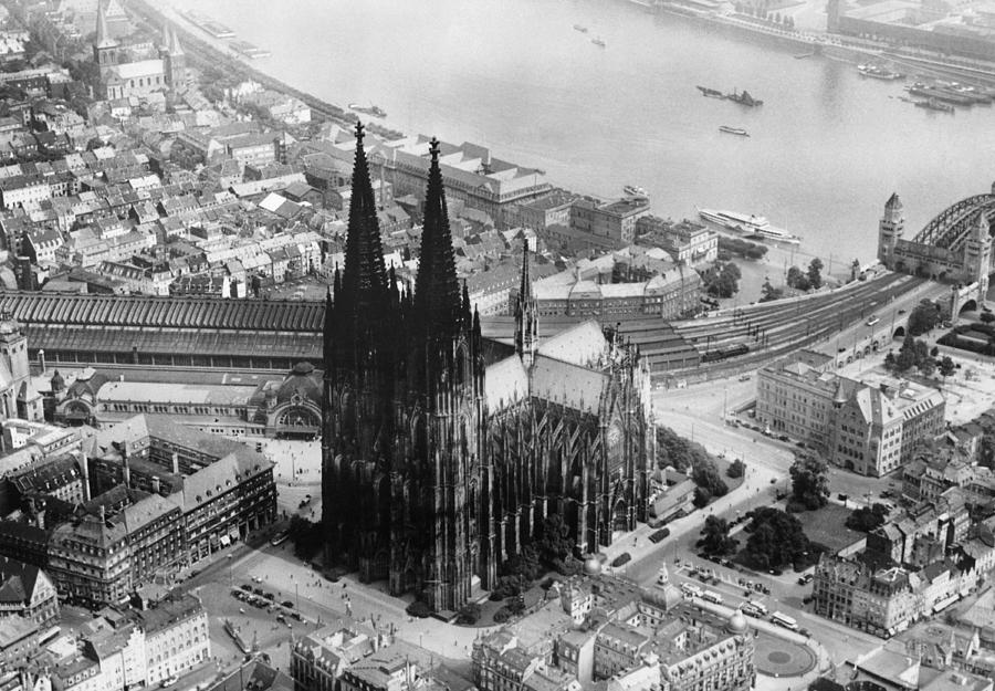 1930s Candid Photograph - Cologne, Germany, The Cologne Cathedral by Everett