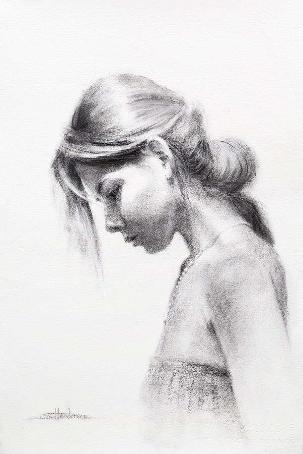 Woman Drawing - Colombiana by Steve Henderson