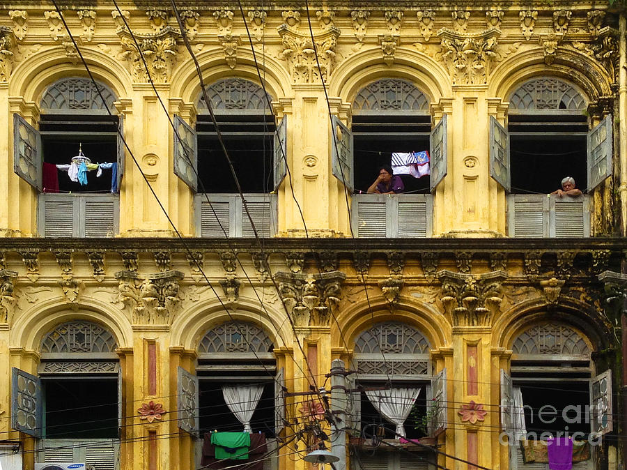 Yangon Photograph - Colonial Facade Bo Soon Pat Street 8th Ward Central Yangon Burma by PIXELS  XPOSED Ralph A Ledergerber Photography