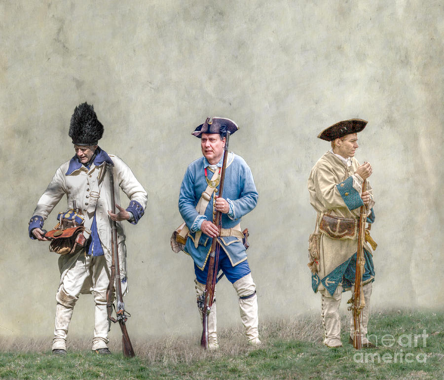 War Digital Art - Colonial French Soldier Review by Randy Steele