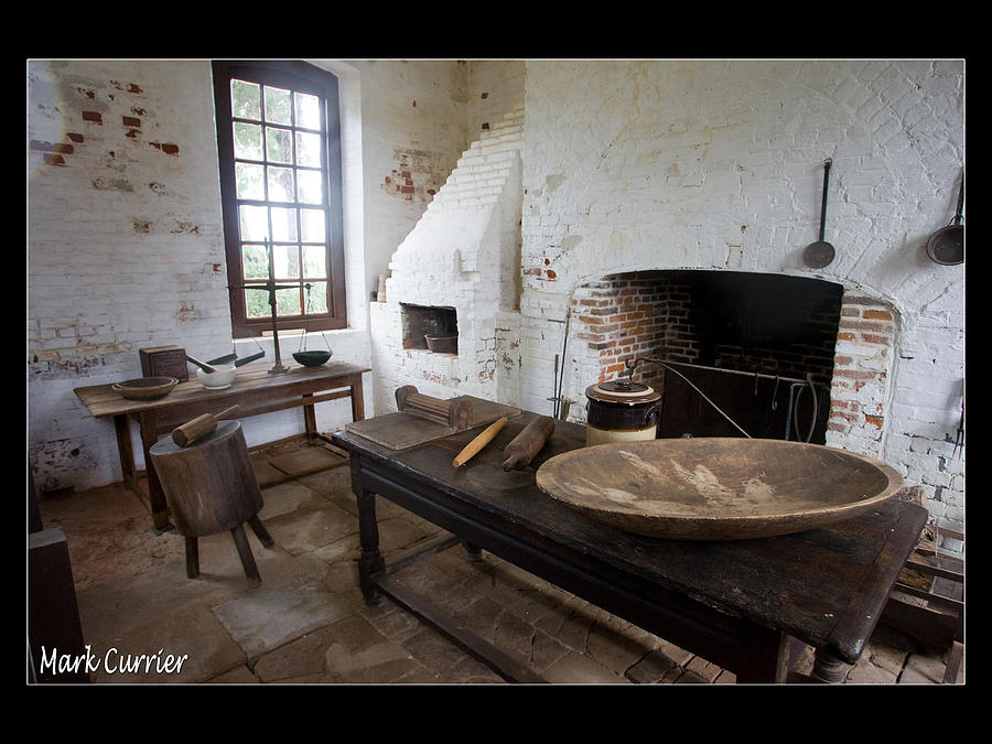 Colonial Photograph - Colonial Kitchen by Mark Currier