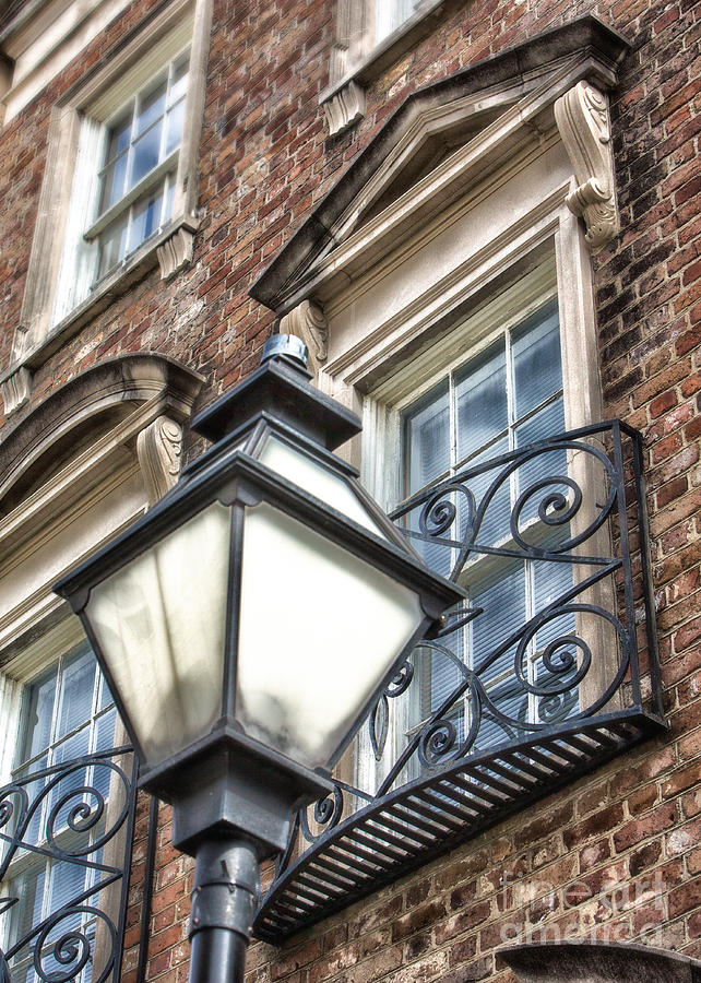 Colonial Lamp And Window Photograph