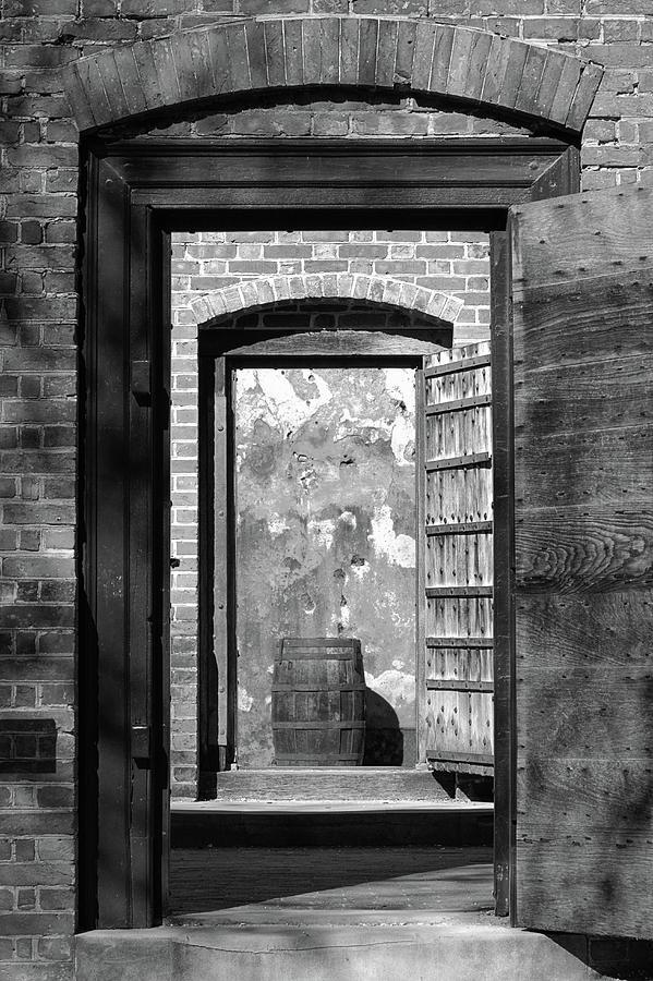 Barrel Photograph - Colonial Prison Door by MotionOne Studios & Colonial Prison Door Photograph by MotionOne Studios