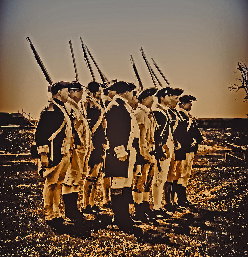 Philadelphia Photograph - Colonial Soldiers On Parade by Bill Cannon