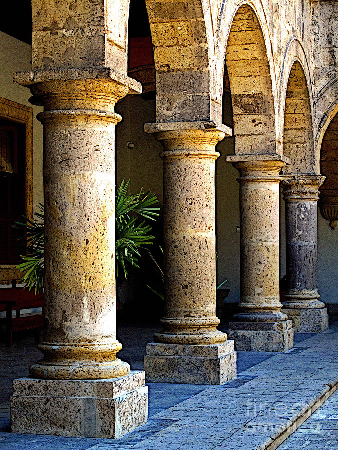 Mexico Photograph - Colonnades by Mexicolors Art Photography