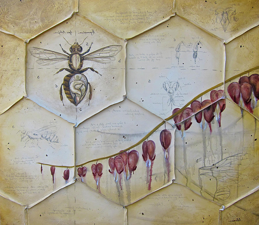 Bees Painting - Colony Collapse Disorder by K Llamas