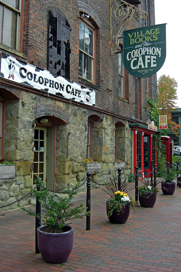 Brick Photograph - Colophon Cafe by Matthew Adair