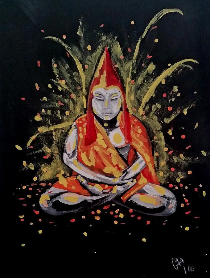 Buddha Painting - Color by Carole Hutchison