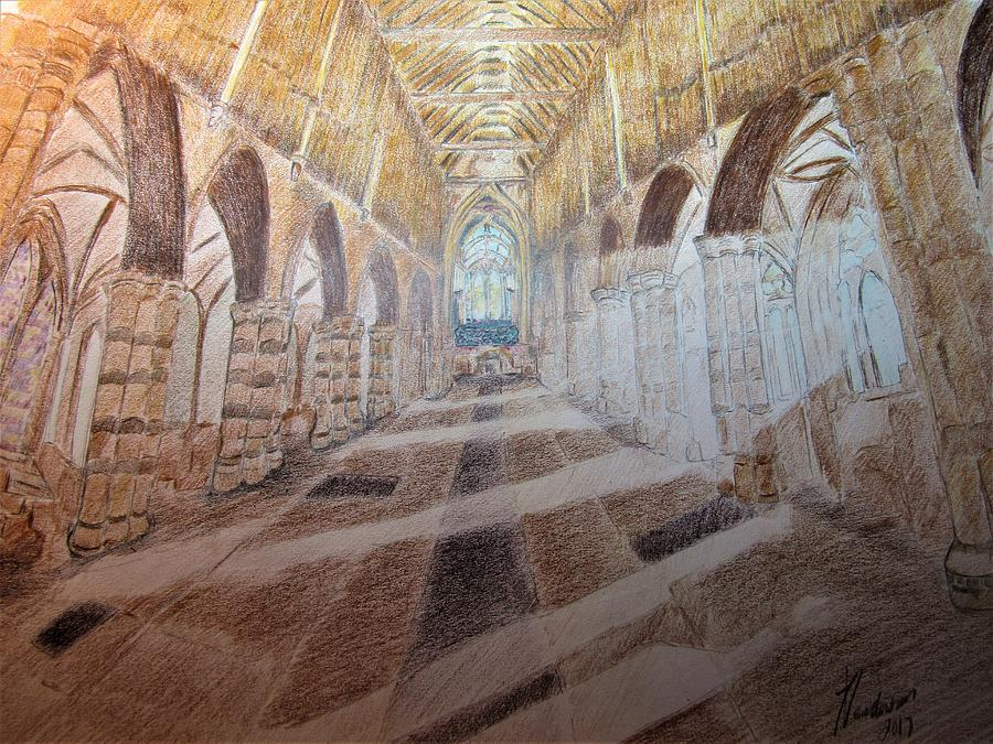 Color Cathedral Drawing By James Henderson