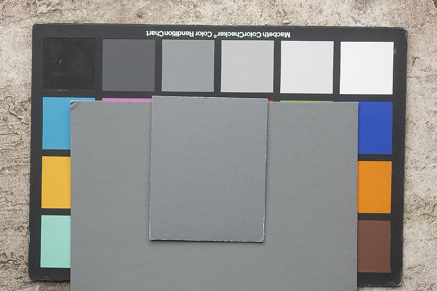 Color Chart Gray Cards Shade Photograph By Rich Franco
