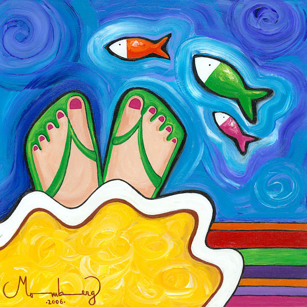 Painting Painting - color Dreams by Karin Momberg