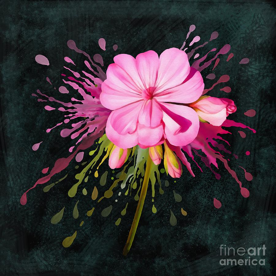 Pink Painting - Color Eruption  by Ivana Westin