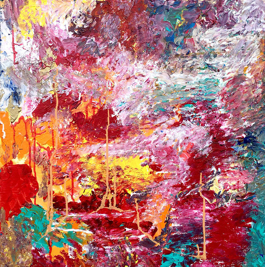 color explosion painting by allison crow