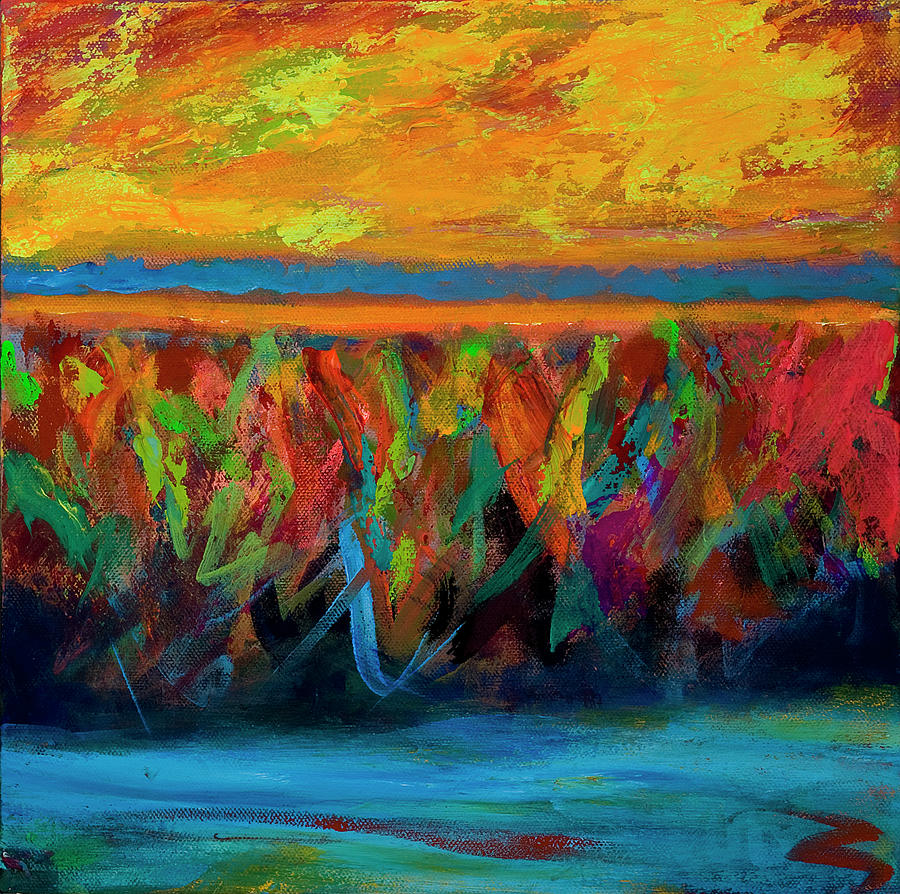 color explosion painting by ann lutz