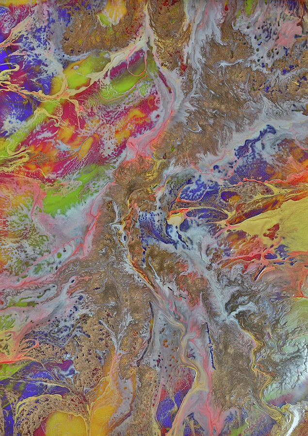 color explosion painting by dee carpenter