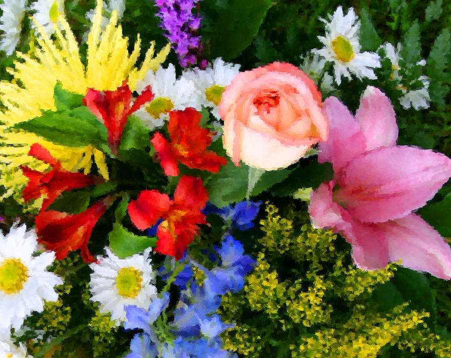 Flowers Digital Art - Color Explosion by Kristin Elmquist