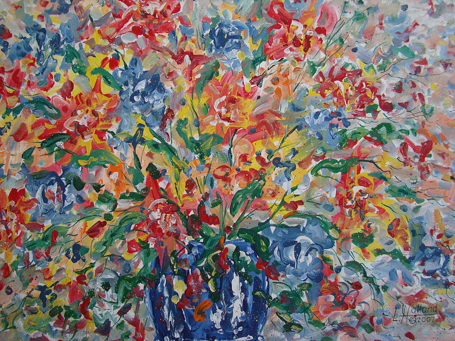 Painting Painting - Color Expressions. by Leonard Holland