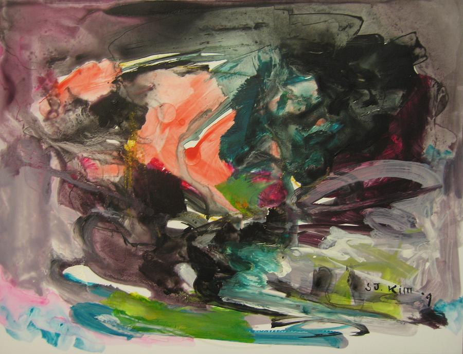 Abstract Painting - Color Fever111 by Seon-Jeong Kim
