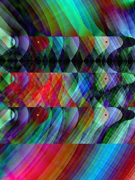 Fractal Digital Art - Color Field by Kirk Gatzka