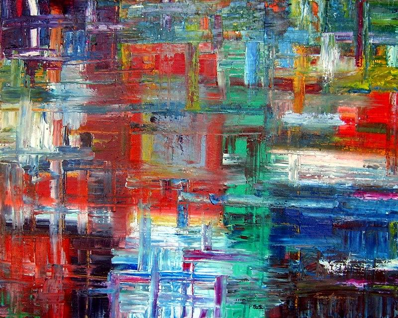 Abstract Painting - Color from my Palette by Ernie Ferguson