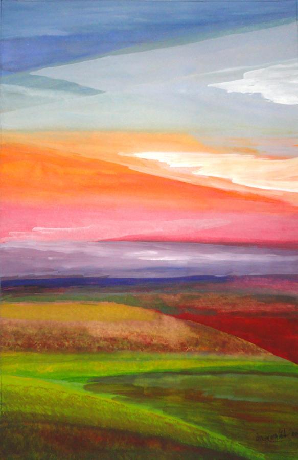 Landscape Painting - Color Harmony by Gorakhnath Baile